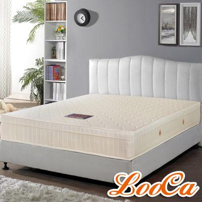 LooCa-經典防潑水蜂巢式獨立筒床墊-雙人