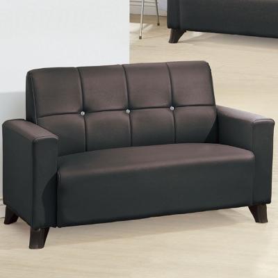 品家居 智久咖啡皮革雙人座沙發