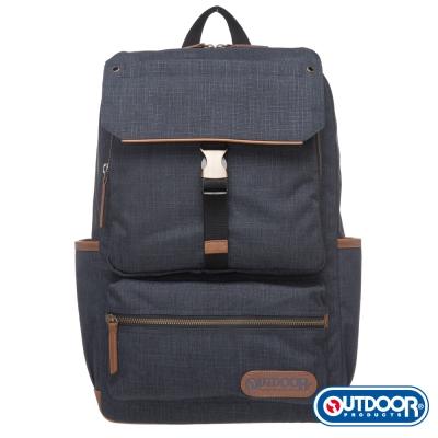 OUTDOOR-都很俊系列-14吋電腦後背包-深藍 OD161167NY