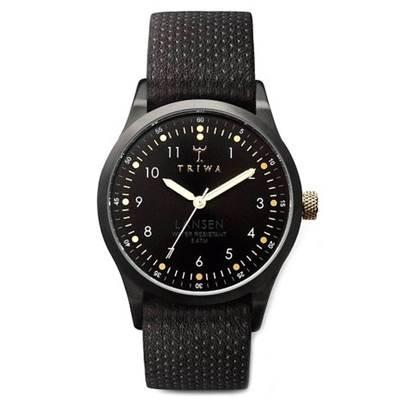 TRIWA Lansen系列Midnight-經典紳士真皮錶帶款-38mm