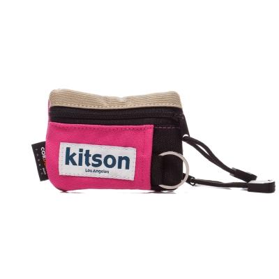 kitson Outdoor  色塊拼接 Pass case 鎖匙/萬用包-PINK