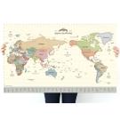 indimap 環遊世界世界地圖海報(改版-單張)-02粉彩版