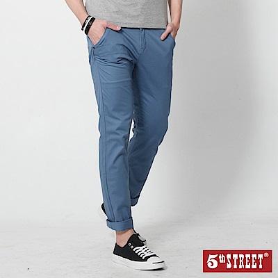 5th STREET 修身剪裁休閒色褲-男-藍色