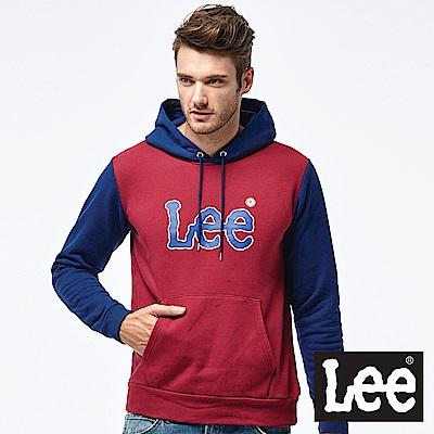 Lee LOGO撞色帽Tee-男款-紅