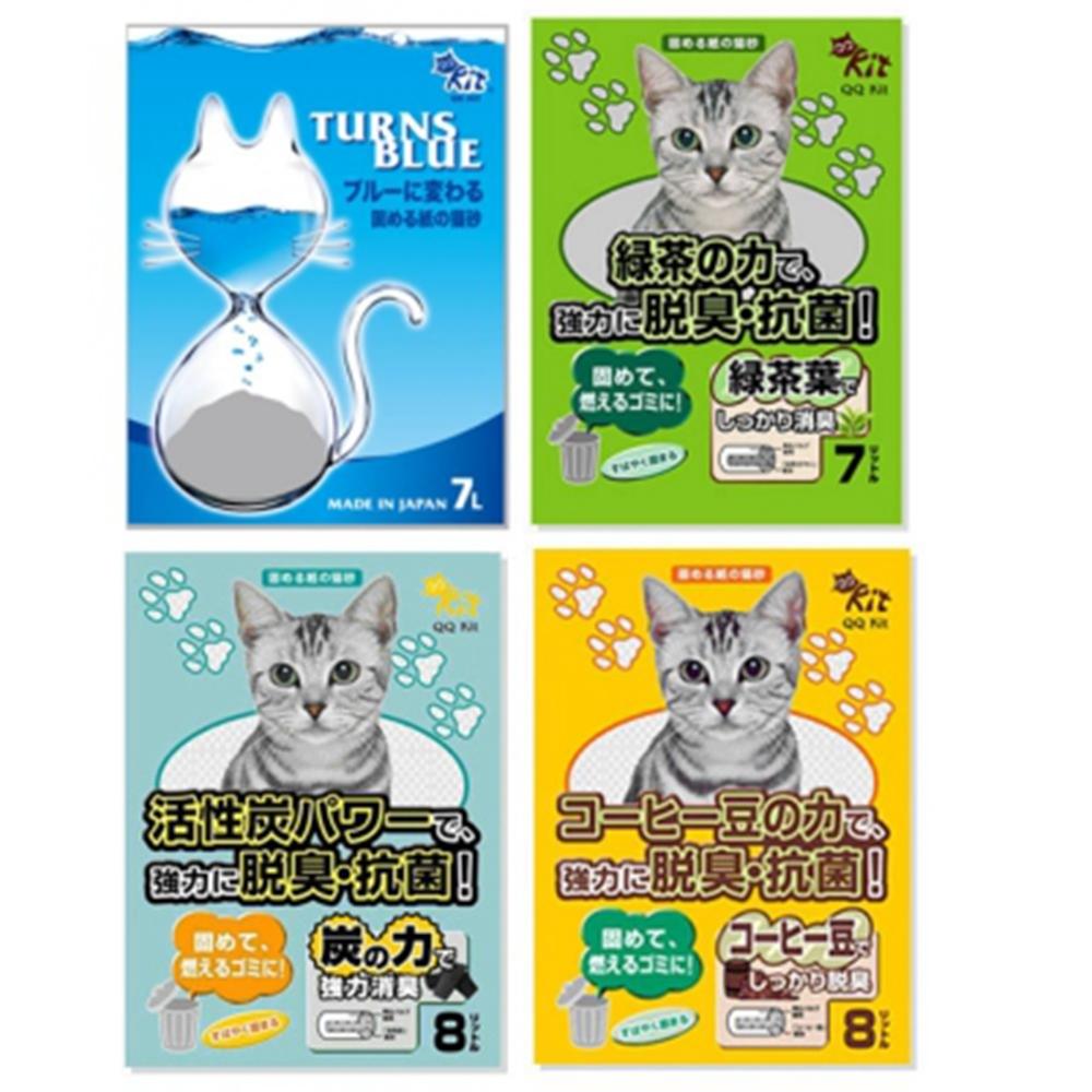 (買4包送2包)QQ KIT 環保紙貓砂 7L