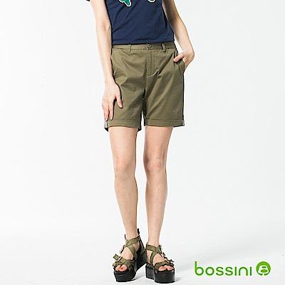 bossini女裝-反摺卡其短褲草綠