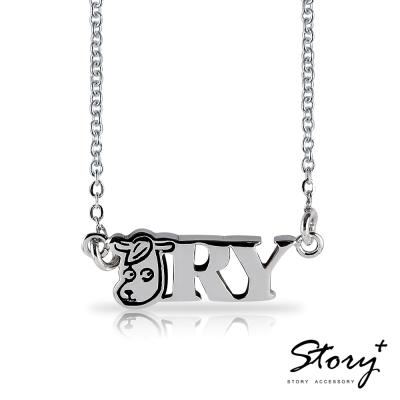 STORY故事銀飾-方頭獅元氣森林-勇敢泡芙羊 純銀項鍊