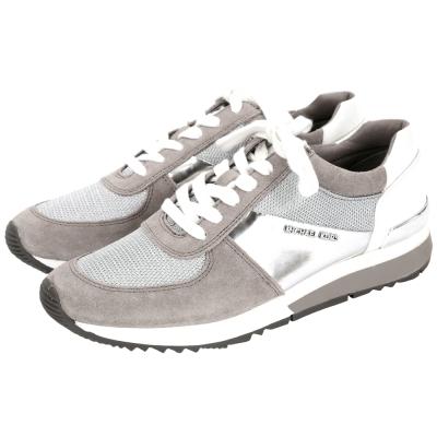 Michael Kors Allie Trainer 麂皮拼接運動鞋(灰色)