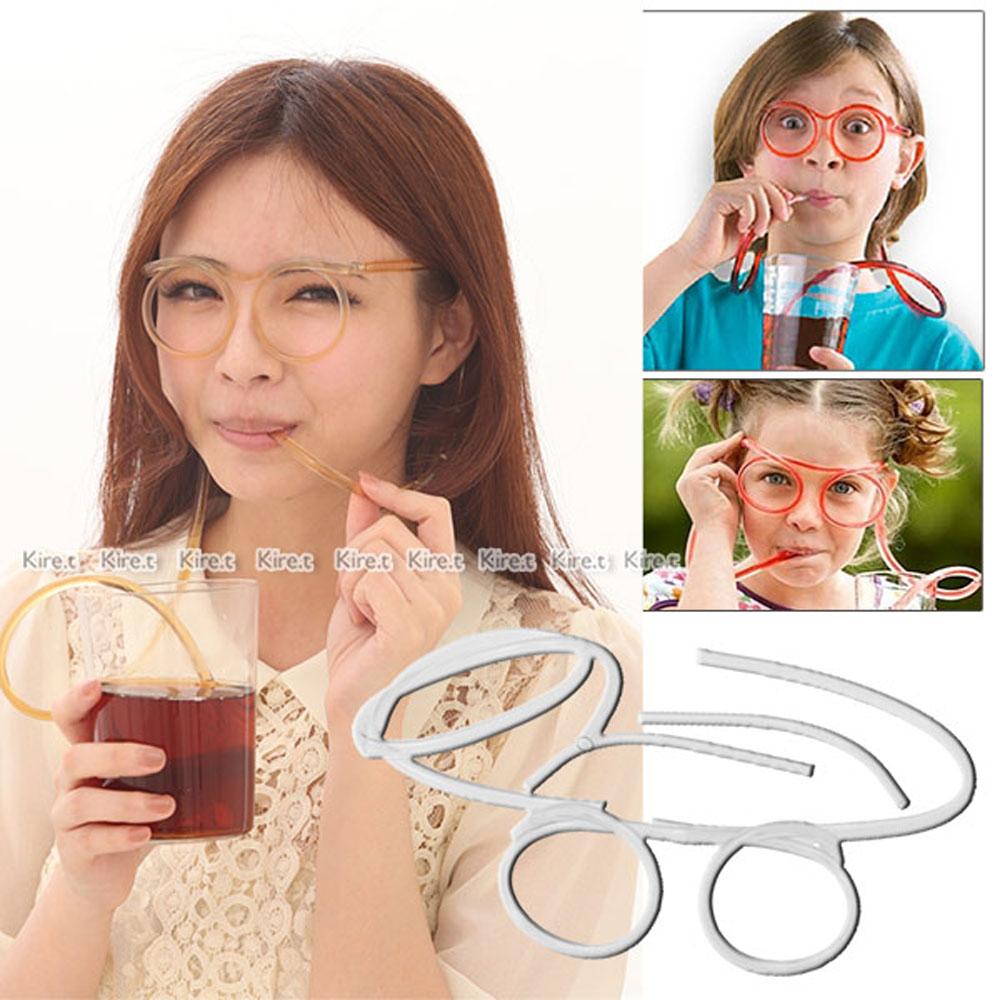 神綺町☆搞笑眼鏡造型吸管2入搞怪創意KUSO趣味眼鏡/化裝舞會/吸管/派對/慶生