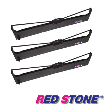 RED STONE for SEIKOSHA LP660+/FB500黑色色帶組(<b>1</b>組<b>3</b>入)