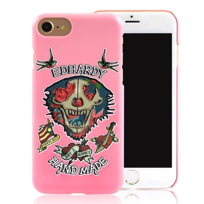Ed-Hardy-iPhone-7-4-7吋-亮面保護殼-玫瑰骷髏