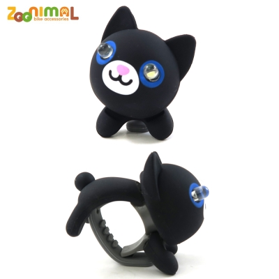 【ZOONIMAL】STORY 動物自行車燈用LED白光前燈-Nica妮可貓/黑貓