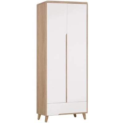 Boden-萊羅2.5尺二門一抽衣櫃-76x55x204cm