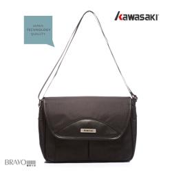 Kawasaki-異材質設計。MIT多隔層時尚平板包-KA152