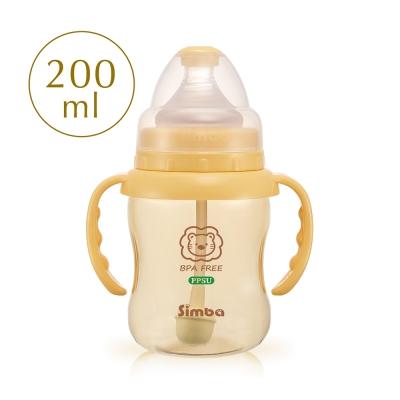 小獅王辛巴 PPSU自動把手寬口葫蘆小奶瓶(200ml)