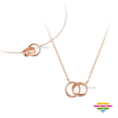 彩糖鑽工坊 銀鍍玫瑰 項鍊+手鍊套組 桃樂絲 Doris系列