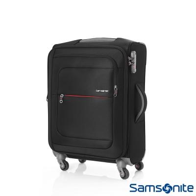 Samsonite-新秀麗-20吋-POPULITE四輪TSA超輕量可擴充布面行李箱-黑