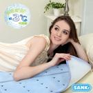 日本SANKi 低反發散熱加強冰涼床墊組-1床墊+1枕墊