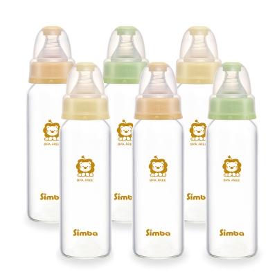 小獅王辛巴 超輕鑽標準玻璃大奶瓶6支組(240ml)