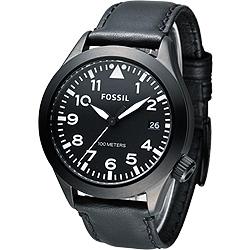FOSSIL 暗黑勇士時尚大錶徑腕錶-黑/47mm