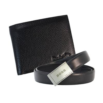 DRAKA 達卡 - 牛皮短夾+ 真皮皮帶組-41TBL3207