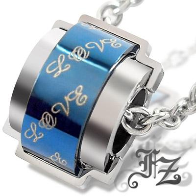 【FZ】愛的進行曲白鋼項鍊(藍)
