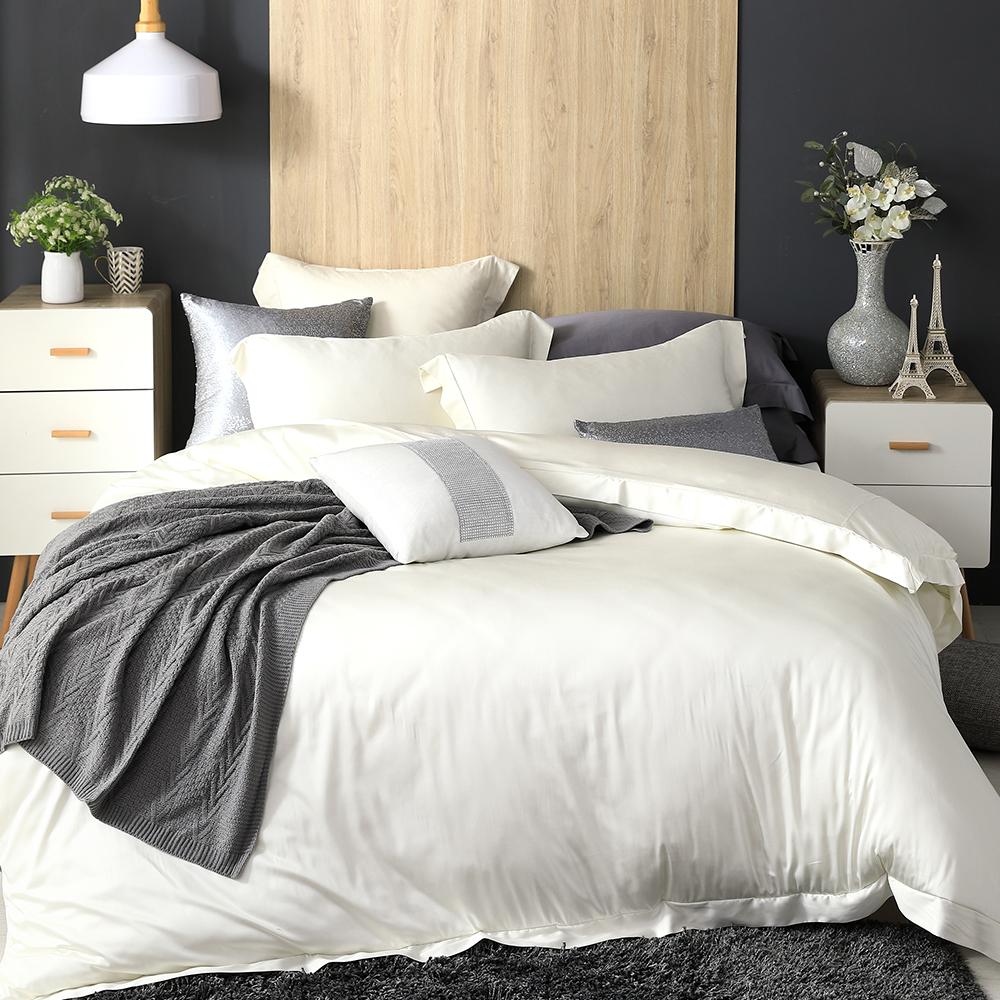 Cozy inn 大理石白 雙人四件組 100%萊賽爾天絲兩用被套床包組