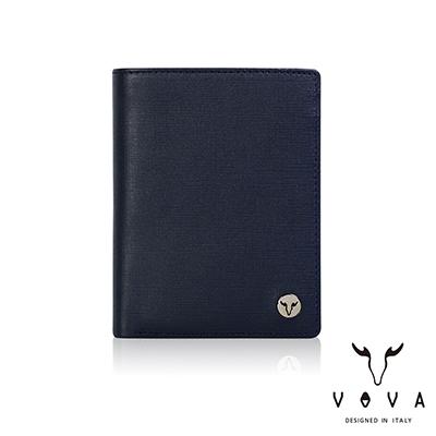 VOVA - 凱旋II系列6卡IV紋名片夾 - 深邃藍
