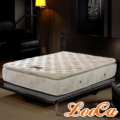 LooCa 正三線乳膠獨立筒床墊-雙人加大6尺