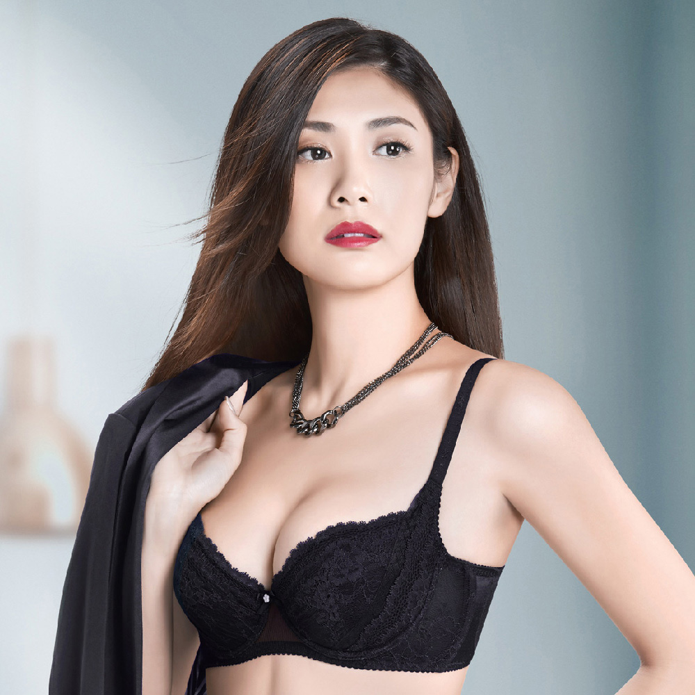 華歌爾X美型系列 C-E罩杯 塑身機能內衣(時尚黑)