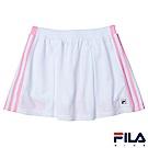 FILA KIDS 女童吸濕排汗褲裙-白 5SKS-4420-WT