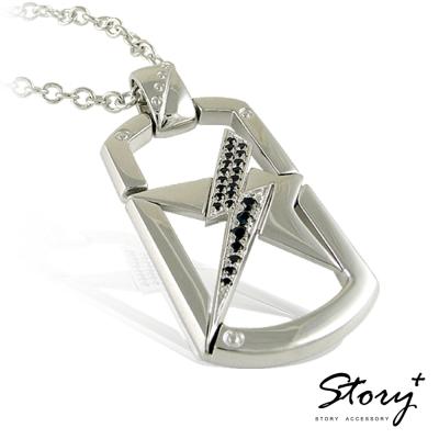 STORY ACCESSORY-星電感應 男款 純銀項鍊