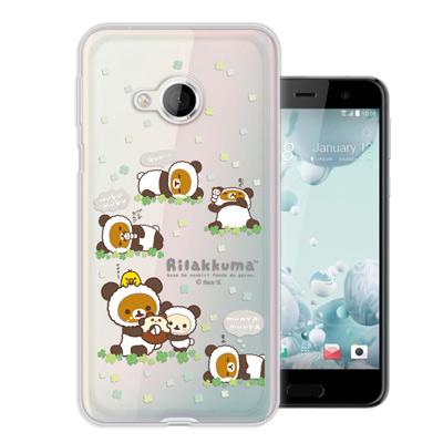 日本授權正版 拉拉熊 HTC U Play 5.2吋 變裝彩繪手機殼(熊貓白)