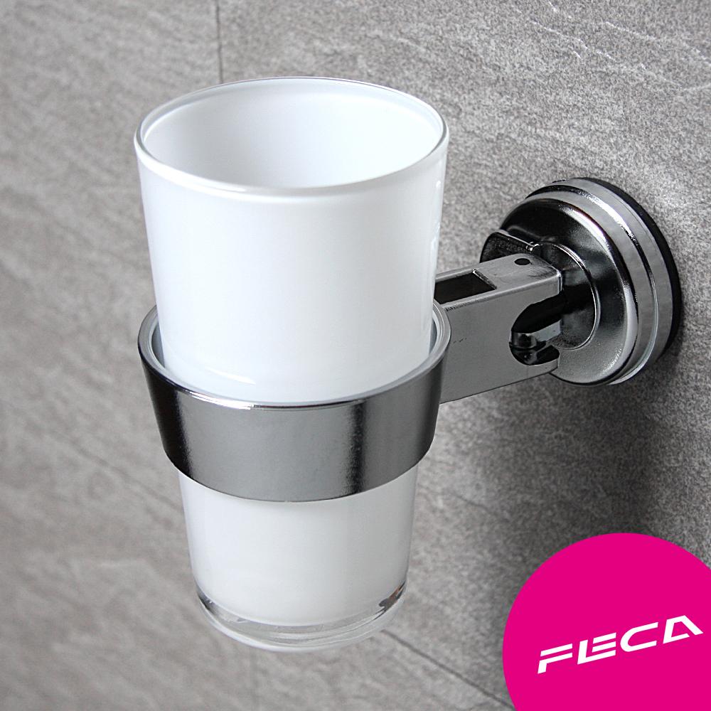 FECA非卡 無痕強力吸盤 O型置物架(銀)
