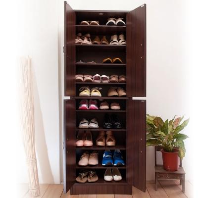 澄境 經典十層雙門收納大容量鞋櫃51X31X154cm
