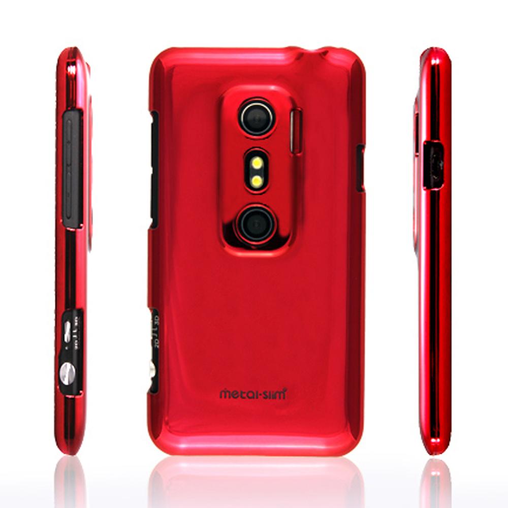 Metal-Slim 金屬系列 HTC EVO 3D保護殼(鋼鐵紅)