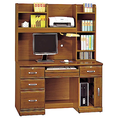 H&D 樟木實木4.2尺書桌組 (寬127X深59X高167cm)