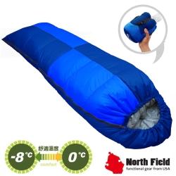 【美國 North Field】杜邦Tactel 頂級白羽絨睡袋800g_岩藍