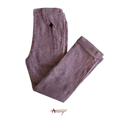 Annys高質壓紋布造型口袋長褲*5468咖啡