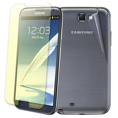 Samsung Galaxy Note 2 N7100 晶磨抗刮高光澤螢幕貼+機身背膜