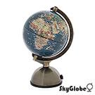 SkyGlobe 5吋亮面衛星原貌金屬底座地球儀(附燈/中文版)