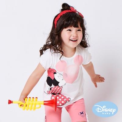 Disney baby 米妮吹泡泡短袖上衣 白色
