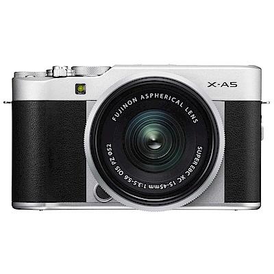 (無卡分期-12期)FUJIFILM X-A5 XC15-45mm 變焦鏡組 (公司貨)-銀黑色