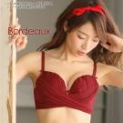 aimerfeel 可愛皺褶薄紗拉提豐胸內衣-醬紅色
