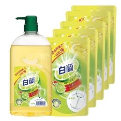 白蘭 全新動力配方洗碗精-檸檬1+5組合