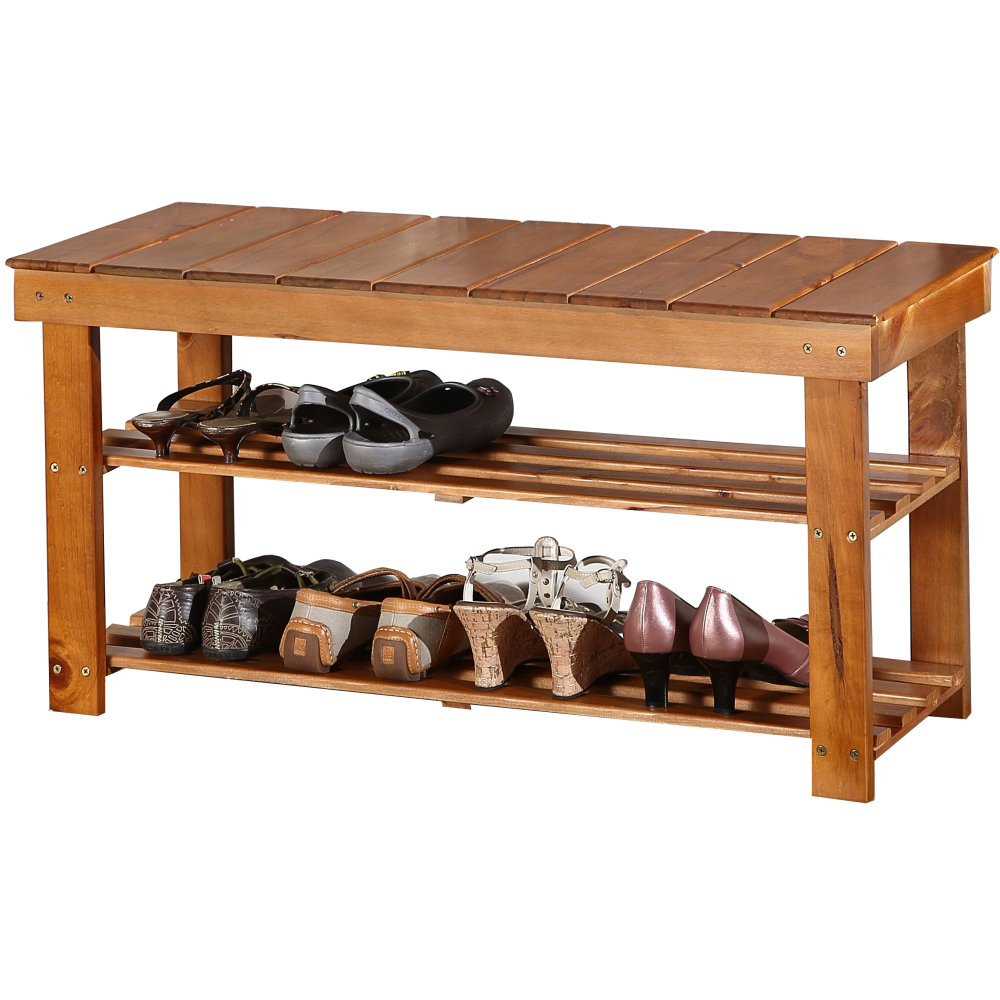 EASY HOME 木匠實木穿鞋椅