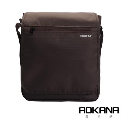 AOKANA 俐落輕巧Layers系列 輕旅防盜防潑水 大型直立式背包(咖啡)02-043