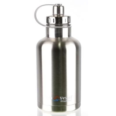 美國 Eco Vessel THE BOSS 不鏽鋼保溫水壺(1900cc)-炫銀