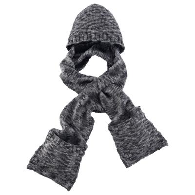 【ATUNAS 歐都納】保暖帽含圍巾 A-A1545 黑灰