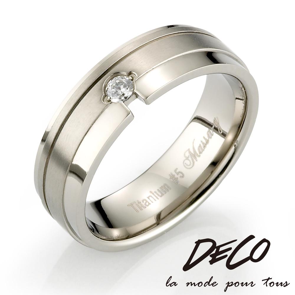 DECO X MASSA-G Double Ring【Forever】鈦金女戒